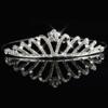 PaCaZa Moderne Zilverkleurige Tiara / Kroon