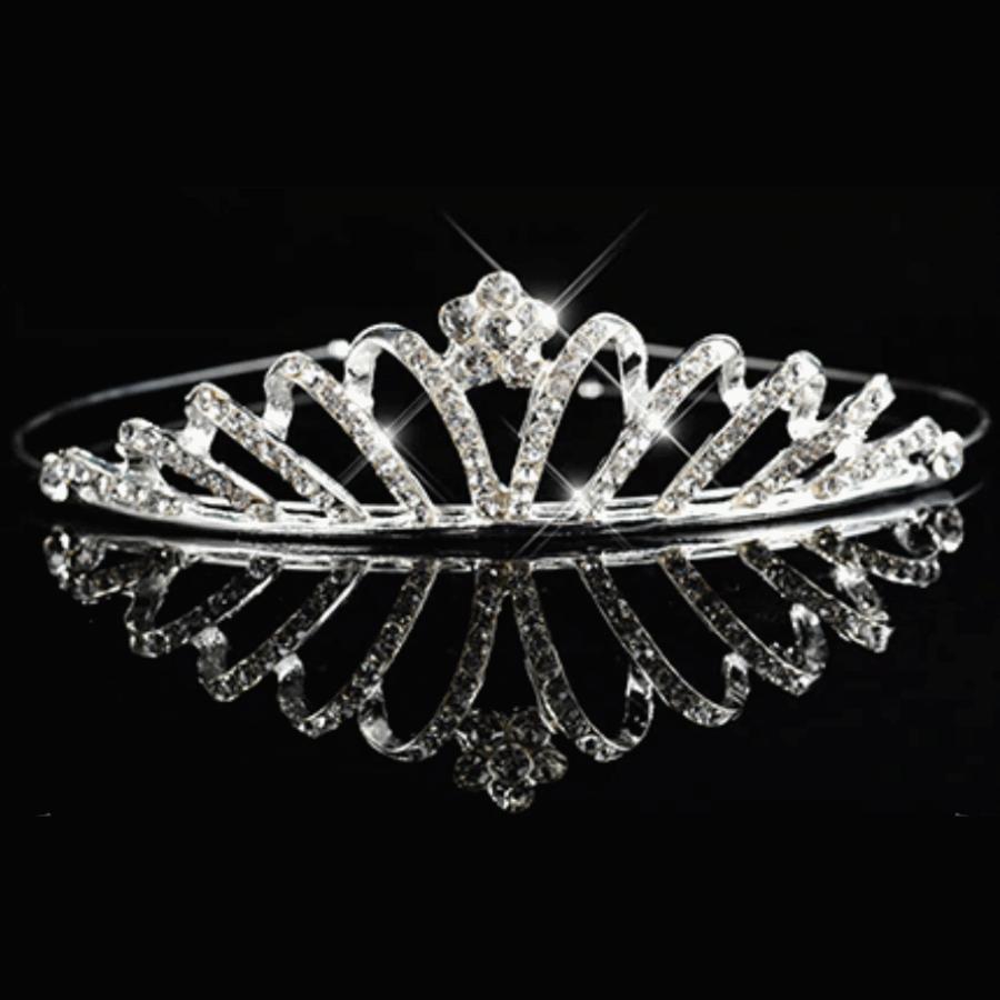 Moderne Zilverkleurige Tiara / Kroon-1