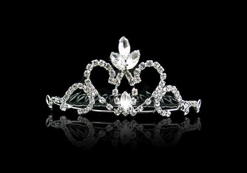Fonkelende Tiara Kam met Clear Kristallen