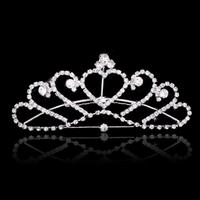 thumb-Elegante Tiara Kam met Fonkelende Kristallen-1