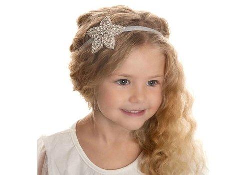 Haarband Bloem /  Haar Sieraad met Fonkelende Kristallen