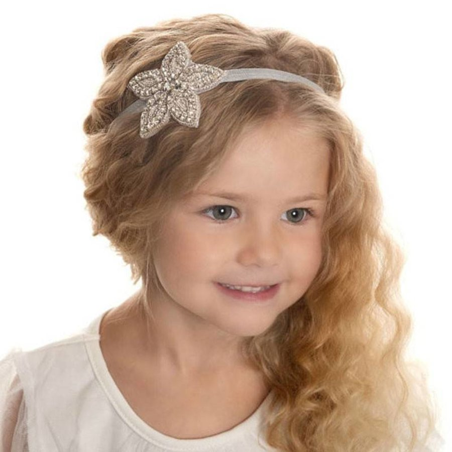 Haarband Bloem /  Haar Sieraad met Fonkelende Kristallen-1