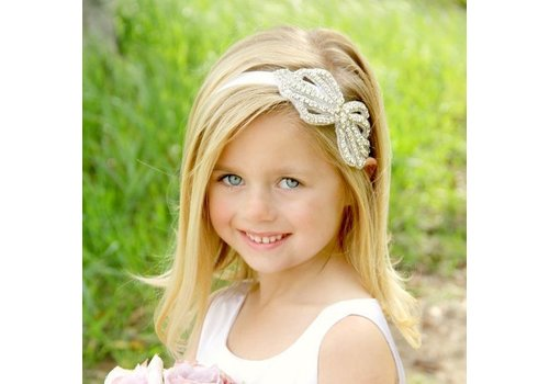 Haarband / Haar Sieraad Strik met Fonkelende Kristallen