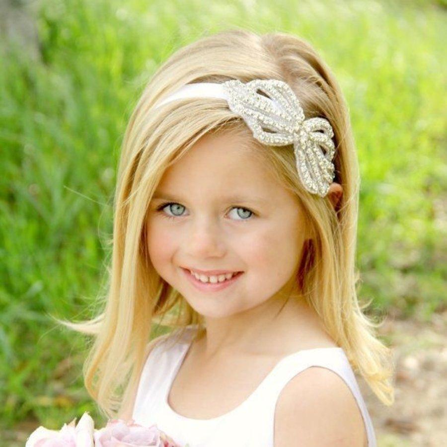 Haarband / Haar Sieraad Strik met Fonkelende Kristallen-1