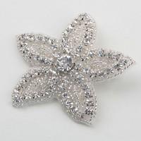 thumb-Haarclip Bloem /  Haar Sieraad met Fonkelende Kristallen-3