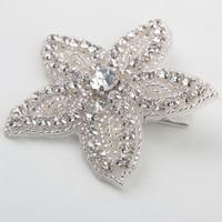 thumb-Haarclip Bloem /  Haar Sieraad met Fonkelende Kristallen-1