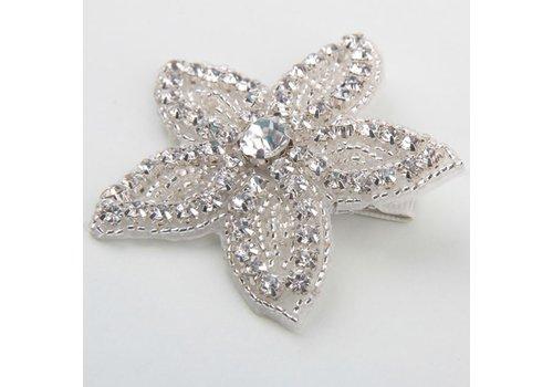 Haarclip Bloem /  Haar Sieraad met Fonkelende Kristallen