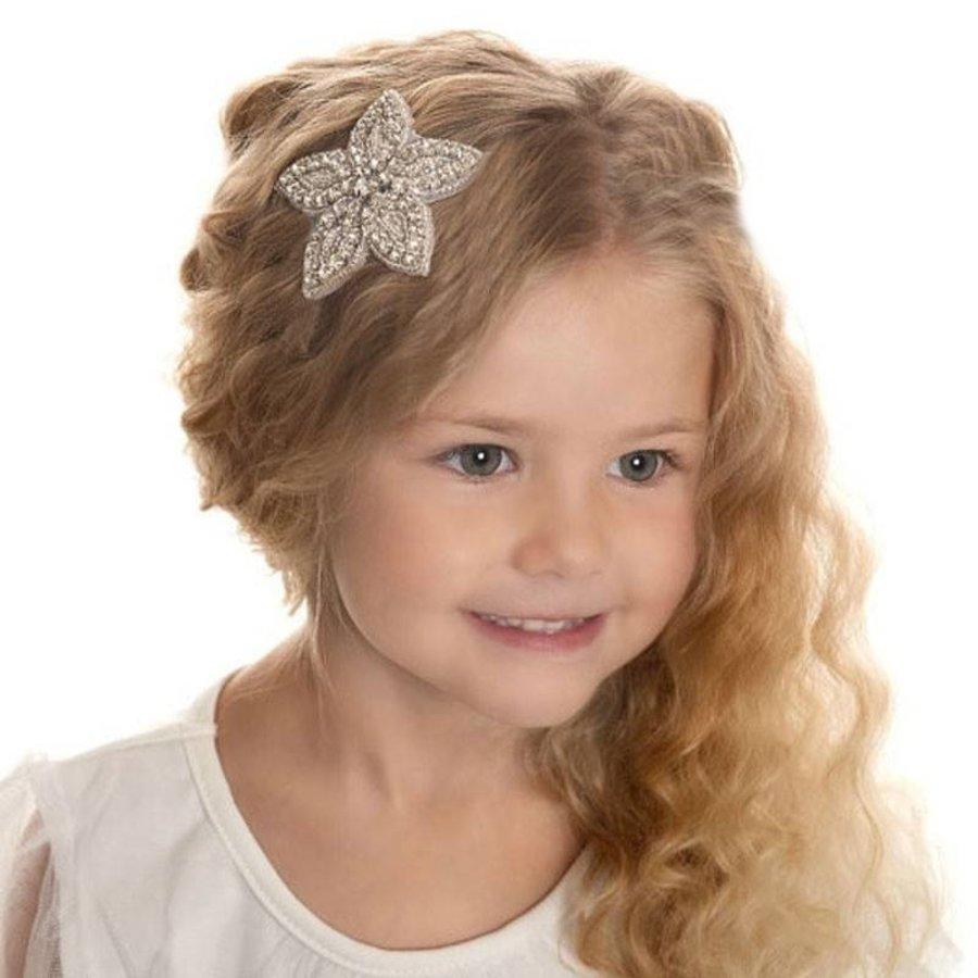 Haarclip Bloem /  Haar Sieraad met Fonkelende Kristallen-2