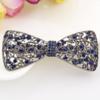 PaCaZa Elegante Haarclip - Strik- Donker Blauw