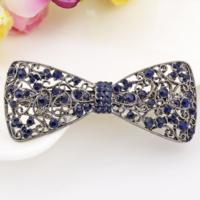Elegante Haarclip - Strik- Donker Blauw