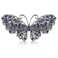 Moderne Haarclip - Butterfly - Donker Blauw