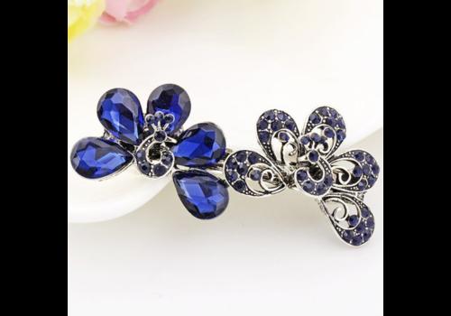 Moderne Haarclip - Peacock - Donker Blauw