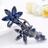 PaCaZa Moderne Haarclip - Flowers - Donker Blauw