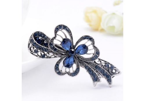Moderne Haarclip - Flower - Donker Blauw
