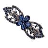 PaCaZa Moderne Haarclip - Bloem - Donker Blauw