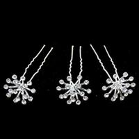 thumb-Zilverkleurige Hairpins met Fonkelende Kristallen - 2 Stuks-4