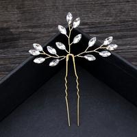 thumb-PaCaZa - Goudkleurige Hairpins met Diamanten - 2 Stuks-3