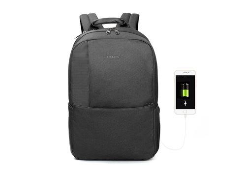Heren rugzak Anti diefstal voor laptops tot 15,6 inch - Grijs /Zwart