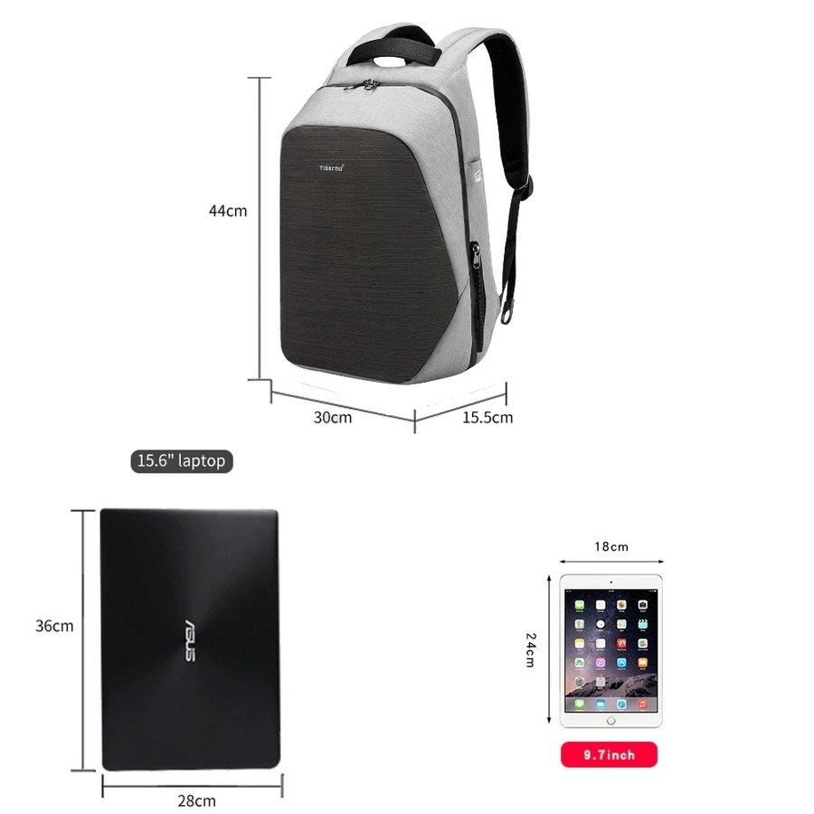 Anti-Diefstal Laptop rugzak 15,6 inch Grey - B3351-5