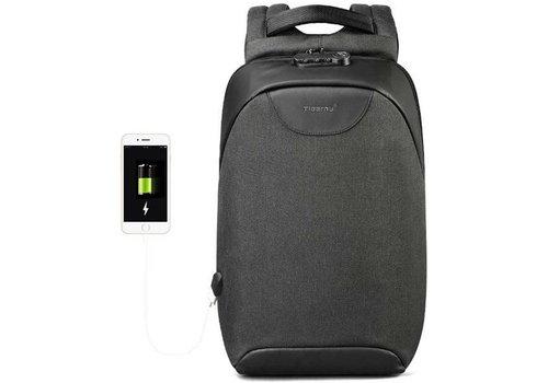 LockIT - laptop rugzak - anti diefstal - 12,5 tot 15,6 Inch - zwart grijs