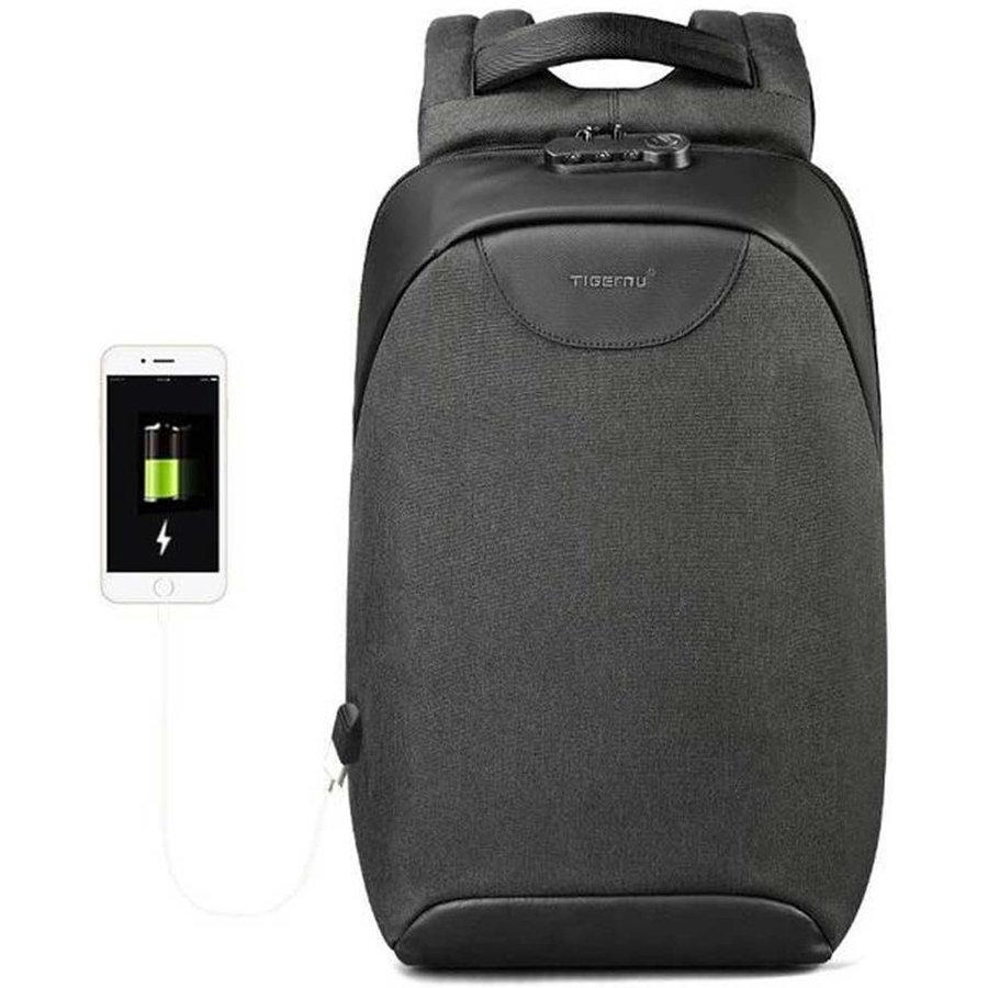 LockIT - laptop rugzak - anti diefstal - 12,5 tot 15,6 Inch - zwart grijs-1