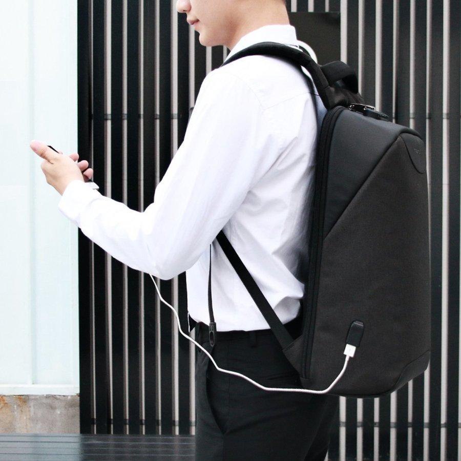 LockIT - laptop rugzak - anti diefstal - 12,5 tot 15,6 Inch - zwart grijs-3