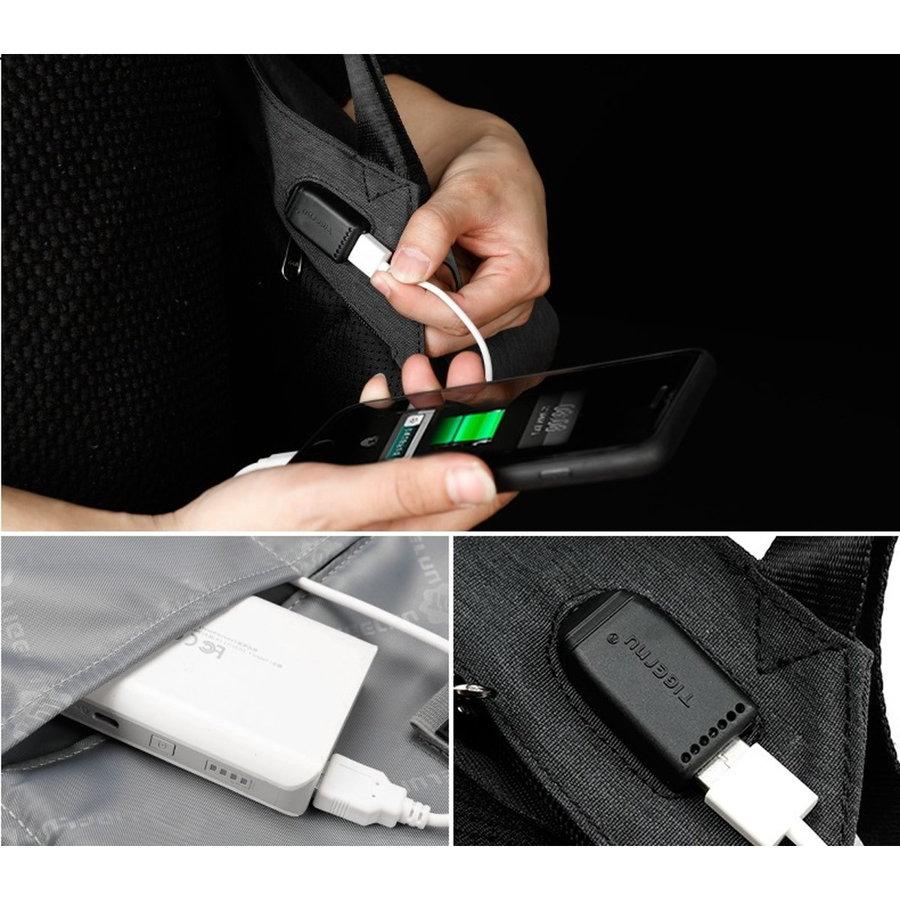 LockIT - laptop rugzak - anti diefstal - 12,5 tot 15,6 Inch - zwart grijs-2