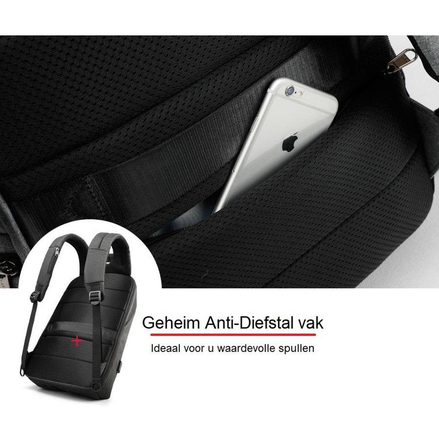 LockIT - laptop rugzak - anti diefstal - 12,5 tot 15,6 Inch - zwart grijs-6