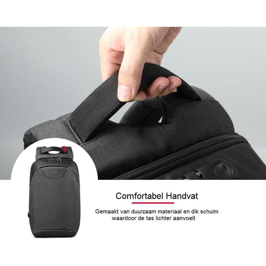 LockIT - laptop rugzak - anti diefstal - 12,5 tot 15,6 Inch - zwart grijs-7
