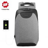 thumb-Tigernu - LockIT - laptop rugzak - anti diefstal - 12,5 tot 15,6 Inch - grijs-1