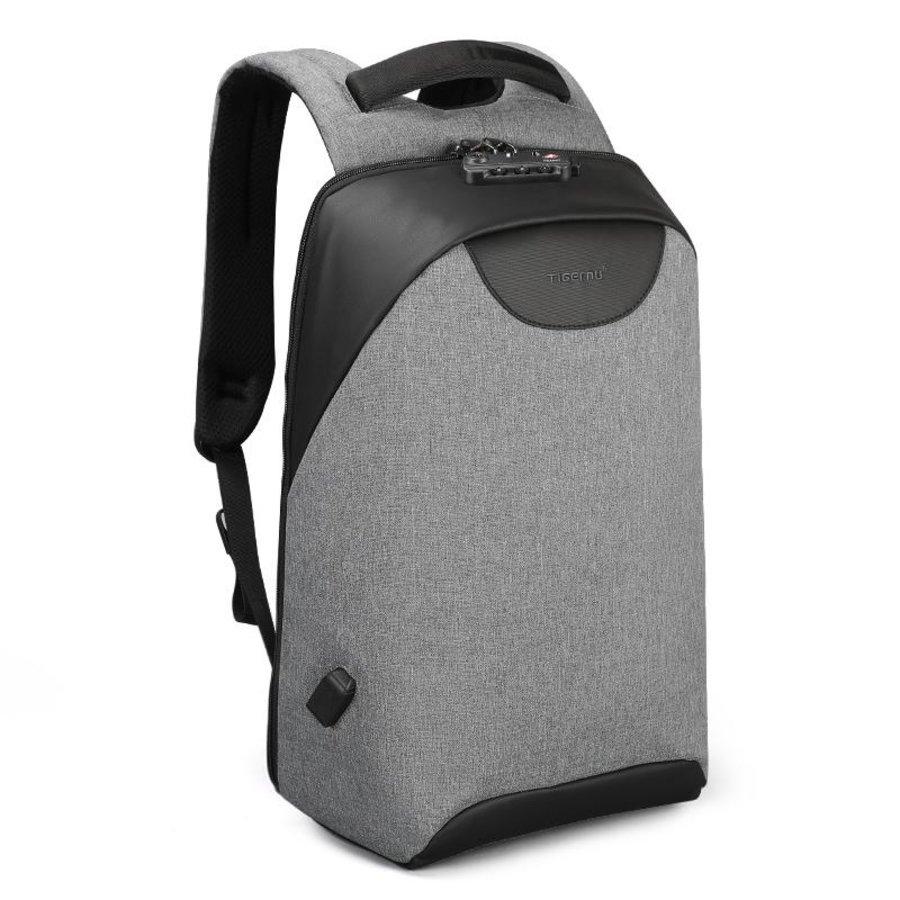Tigernu - LockIT - laptop rugzak - anti diefstal - 12,5 tot 15,6 Inch - grijs-2