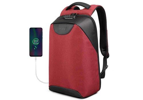 LockIT - laptop rugzak - anti diefstal - 12,5 tot 15,6 Inch - rood