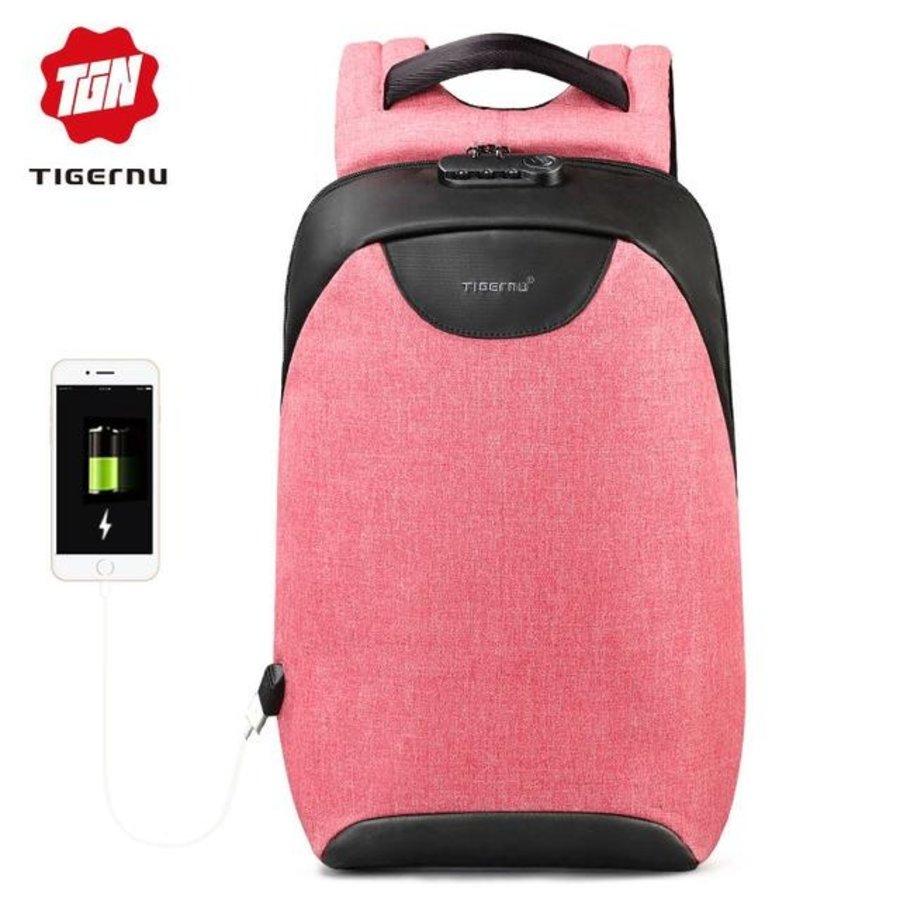 LockIT - laptop rugzak - anti diefstal - 12,5 tot 15,6 Inch - roze-1