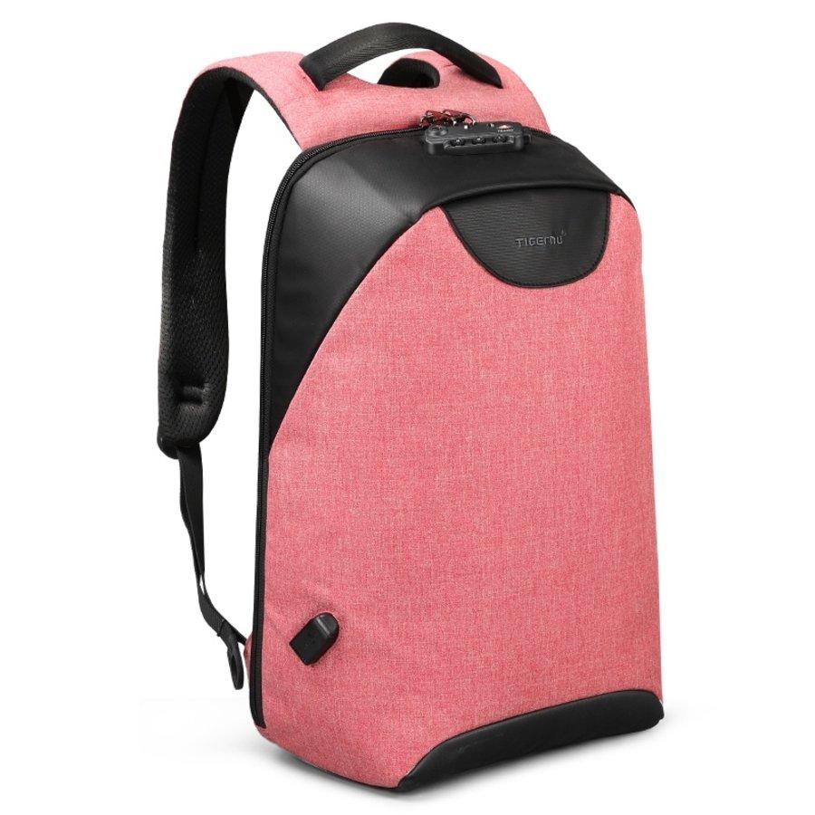 LockIT - laptop rugzak - anti diefstal - 12,5 tot 15,6 Inch - roze-2