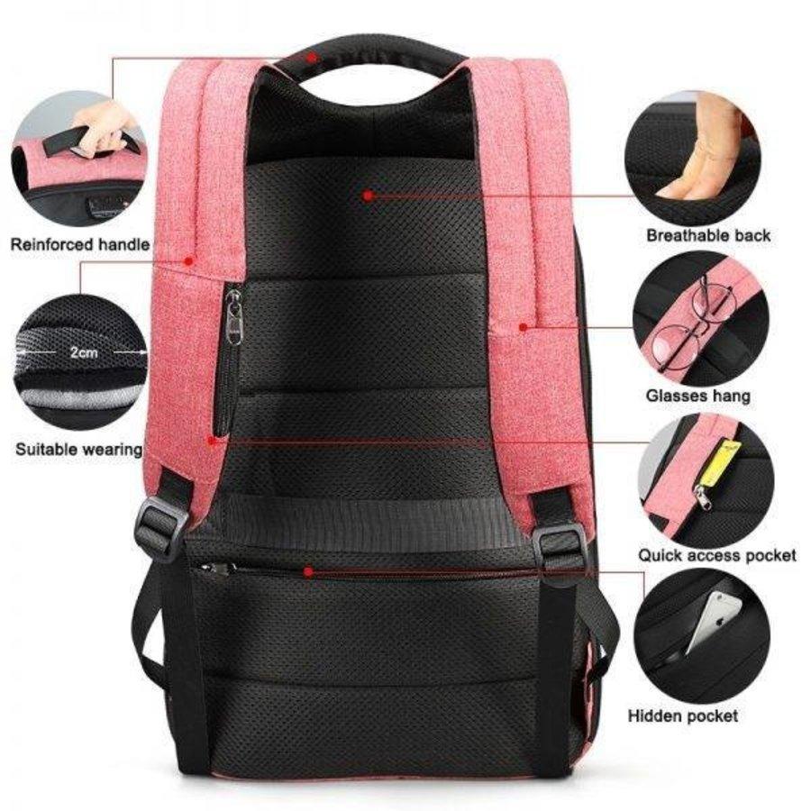 LockIT - laptop rugzak - anti diefstal - 12,5 tot 15,6 Inch - roze-3