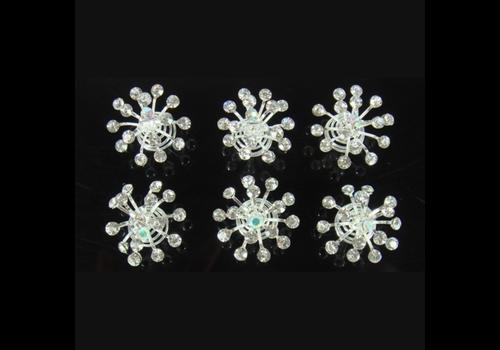 Big Crystal Curlies met Kristallen - 6 stuks