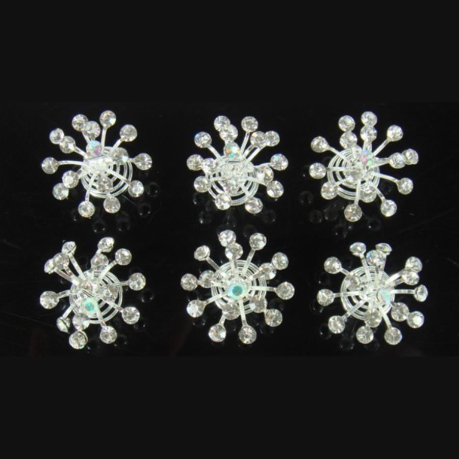 Big Crystal Curlies met Kristallen - 6 stuks-1