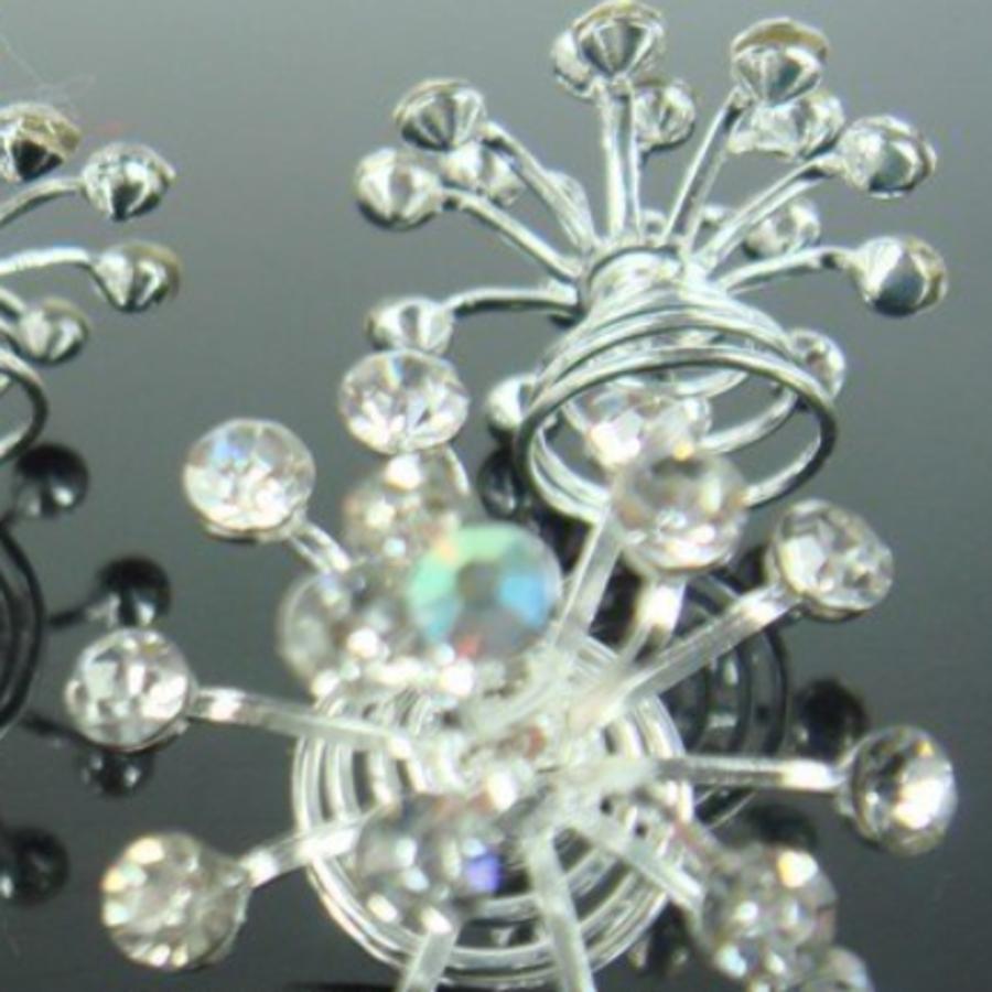 Big Crystal Curlies met Kristallen - 6 stuks-4