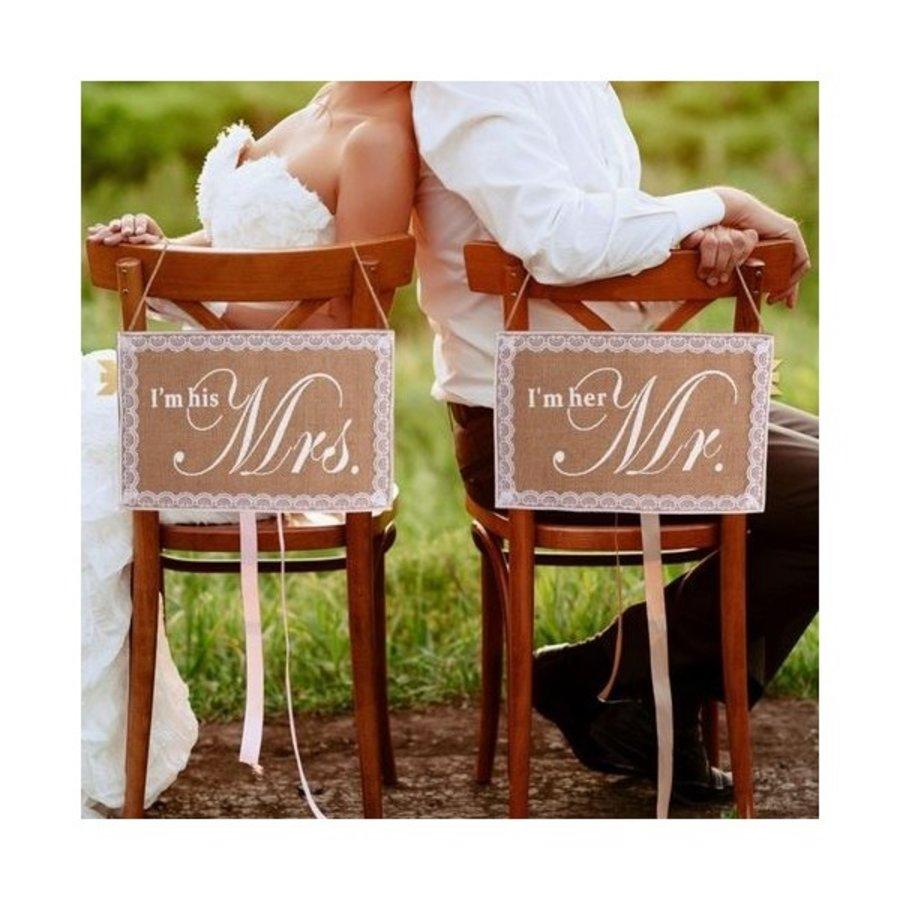 I'm his Mrs.  & I'm her Mr. Slinger - Bruiloft Decoratie-1