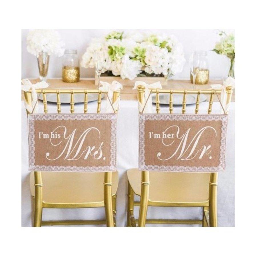 I'm his Mrs.  & I'm her Mr. Slinger - Bruiloft Decoratie-3