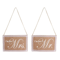thumb-I'm his Mrs.  & I'm her Mr. Slinger - Bruiloft Decoratie-2