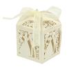 PaCaZa PaCaZa - Geschenk doosjes / Cadeau doosjes - 100 stuks - Bruidspaar - Beige / Crème
