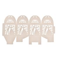 thumb-PaCaZa - Geschenk doosjes / Cadeau doosjes - 100 stuks - Bruidspaar - Beige / Crème-2