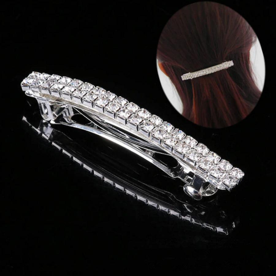 Moderne Fonkelende Haarclip /  Haar Sieraad met Kristallen-2