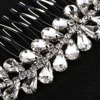 thumb-Fonkelende Zilverkleurige Haarkam bezet met Kristallen-3