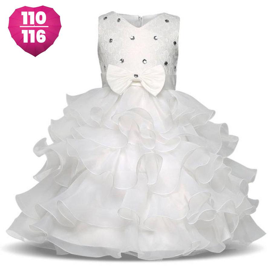 Communiejurk / Bruidsmeisjesjurk - Aly - Off White - Maat 110/116-1