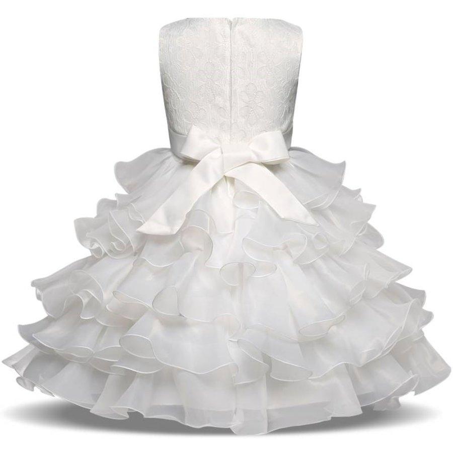 Communiejurk / Bruidsmeisjesjurk - Aly - Off White - Maat 110/116-2