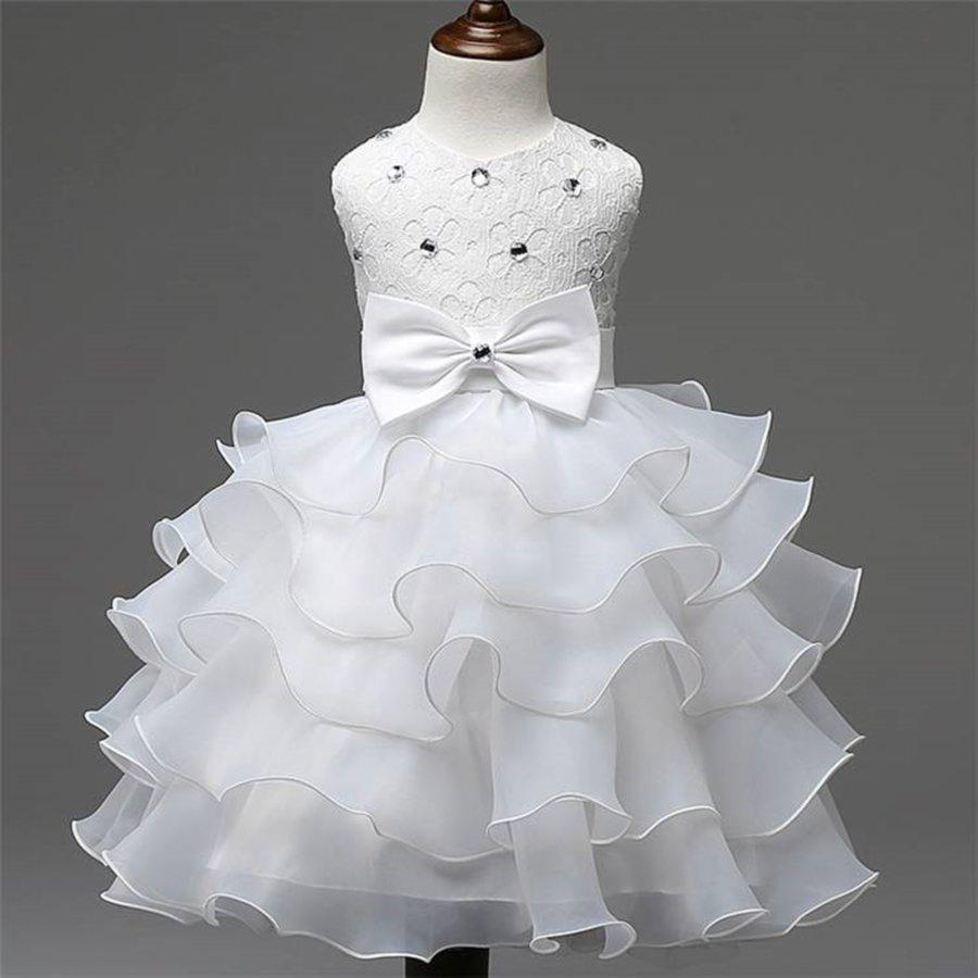 Communiejurk / Bruidsmeisjesjurk - Aly - Off White - Maat 110/116-3
