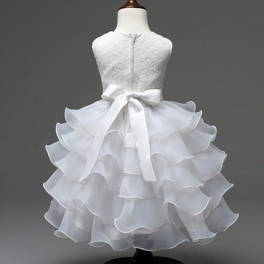 Communiejurk / Bruidsmeisjesjurk - Aly - Off White - Maat 110/116-4