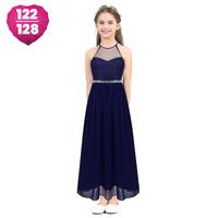 thumb-Communiejurk / Bruidsmeisjesjurk - Cloë - Donker Blauw - Maat 122/128-1